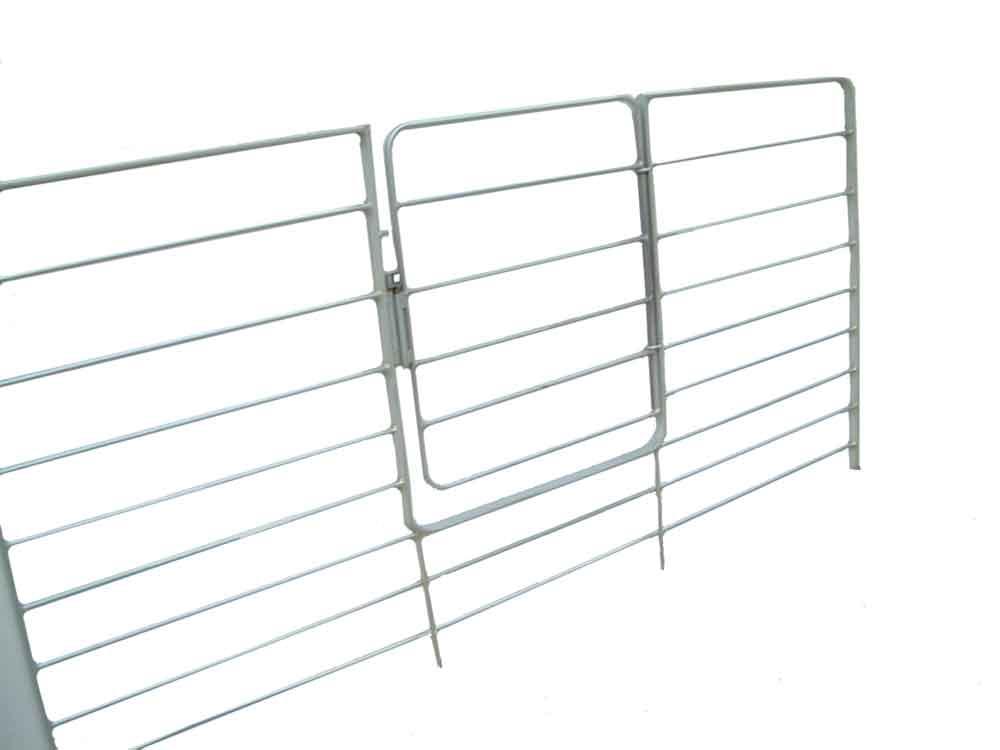 Sistema de división en ganado ovino fabricado en acero galvanizado de alta resistenci que ofrece gran maniobrabilidad en la separación o manejo de lotes ovinos.