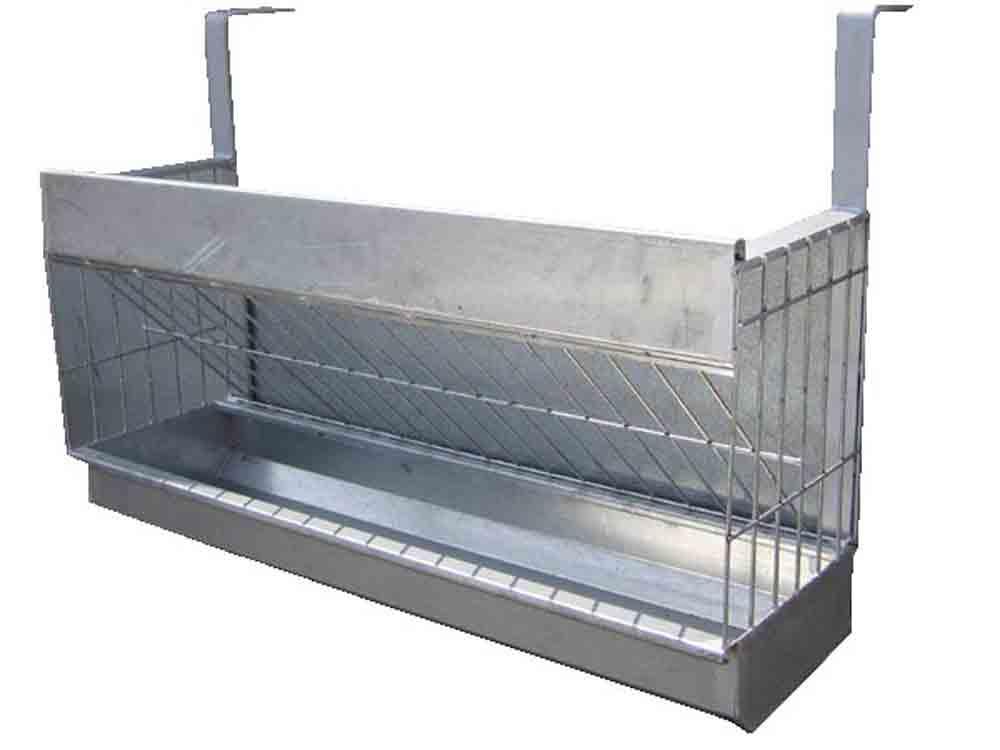 Forrajera de colgar para ganado ovino con medidas personalizadas fabricada en chapa galvanizada