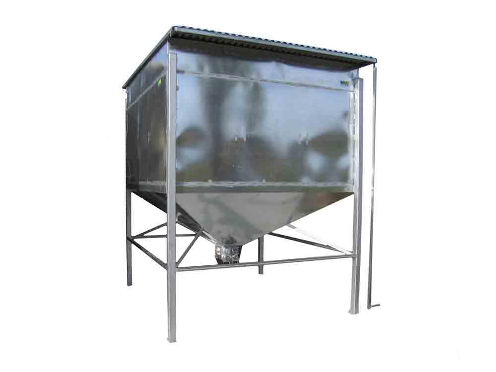 Tolva de gran capacidad para ganado ovino con medidas personalizadas fabricada en chapa galvanizada