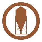 icono silo de pienso marrón