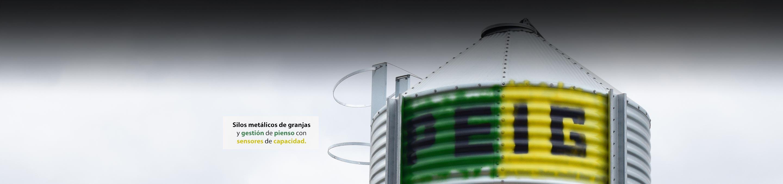 Sistemas de almacenamiento de grano y harinas mediantes silos metálicos y de fibra de vidrio en granjas de animales