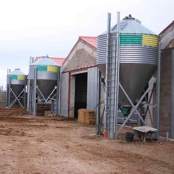 silos galvanizados de una virola