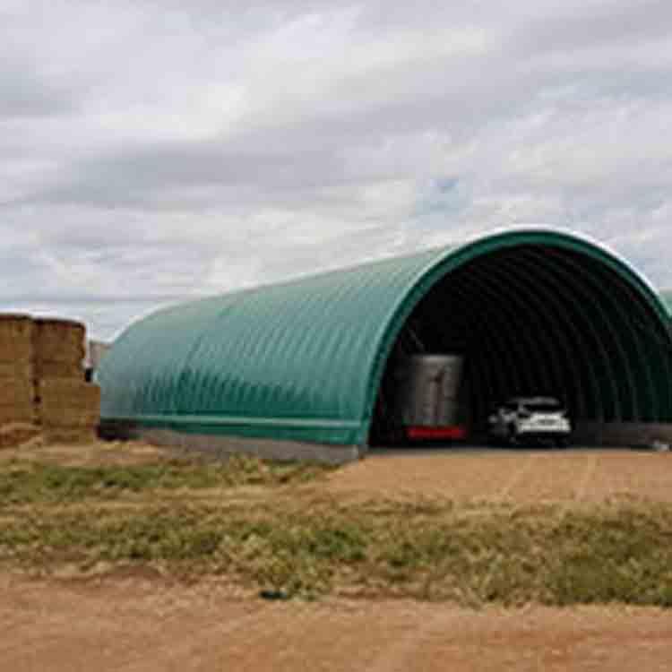 nave estructura desmontable con lona, uso agrícola