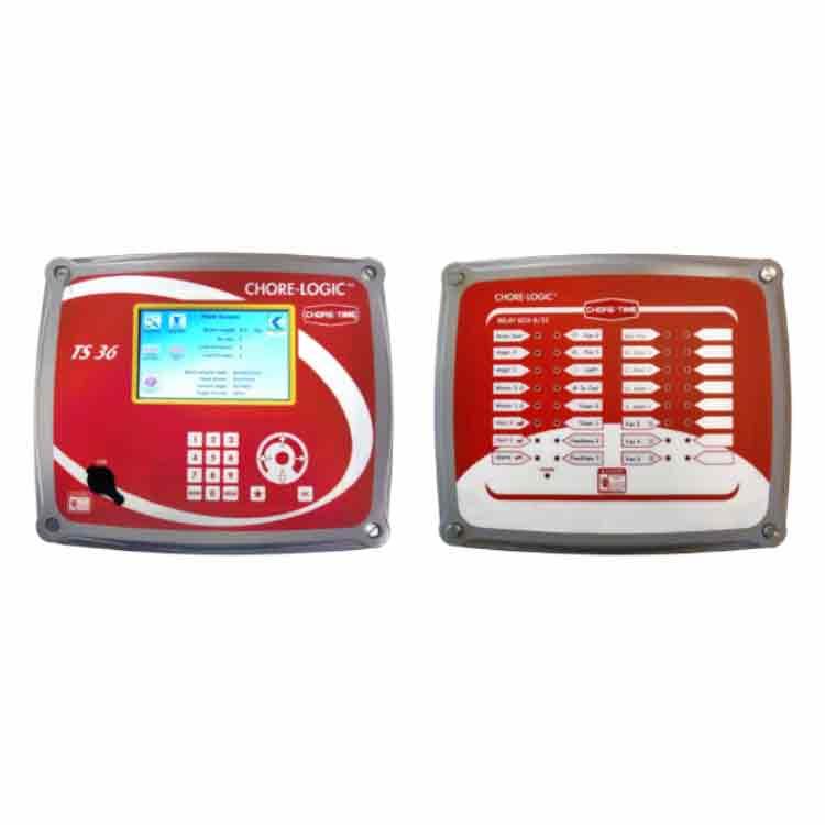Controlador CHore Time modelo CHore Logics TS36 con caja de reles