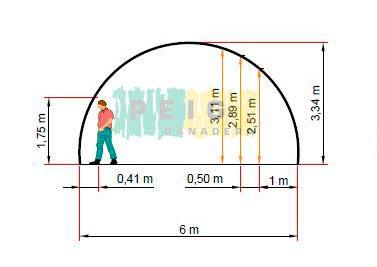cobertizo de 6 metros de ancho