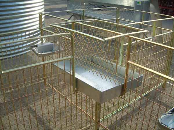 Sistemas de jaula de 4 módulos para paritorio en ovinos gestantes que mejoran la maternidad de las ovejas respecto los corderos.